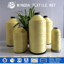Guangzhou high density Yellow color para aramid weaving anti-cut yarn cut resistant kevlar yarn for garment and gloves