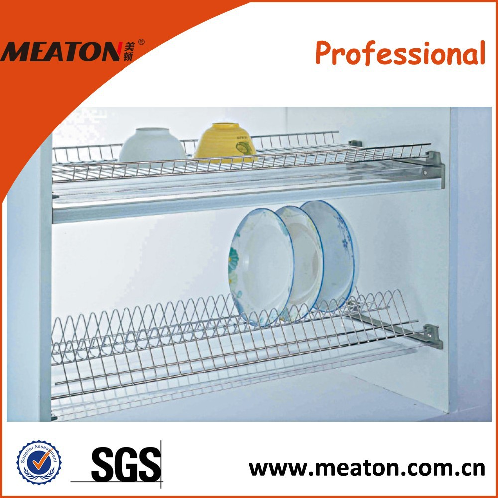 Wall mounted iron kitchen drying dish rack
