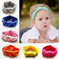 Children hair accessories baby girls top knotted headband kids child cotton hair band head wrap