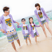 Z90907A 2016 china manufacturer wholesale customized design parent-child clothing summer style sun-protective clothing