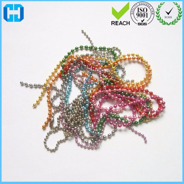 Wholesale Metal Iron Bead Chain Steel Tag Card Ball Chain