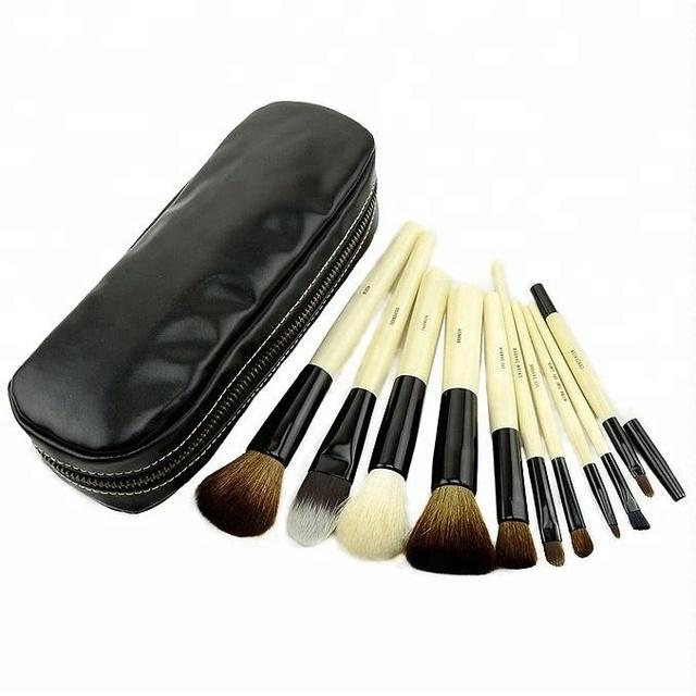 goat hair professional makeup brush set