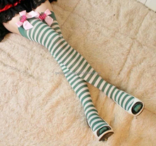 Christmas decoration Hot Thigh High Sexy Cotton Socks Women\'s Striped Over Knee Girl Lady Stocking