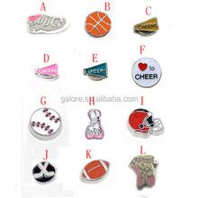 high quality custom made fashion silver nfl floating charms