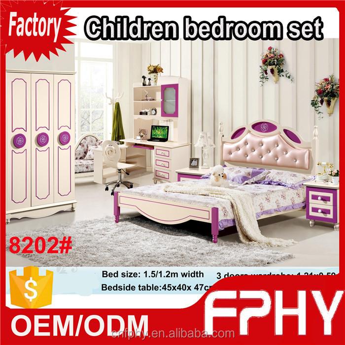 wholesales colorful modern furniture cheap kids bedroom furniture sets