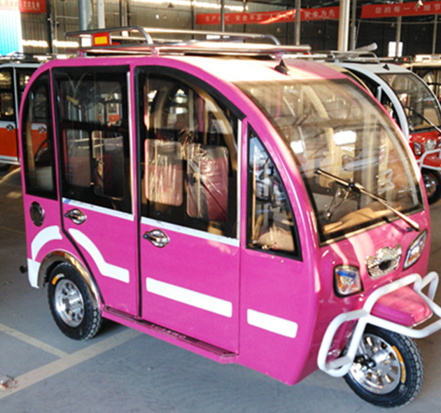 Closed carbox motorcycle 3 wheel tricycle for passenger/electric taxi