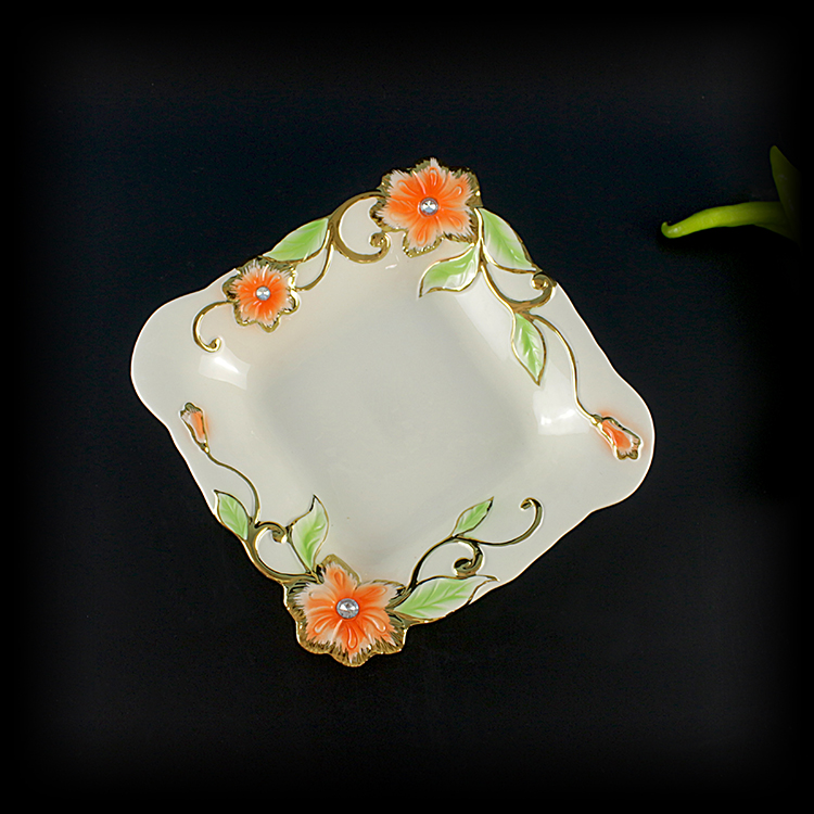 most popular dry fruit plate products creative ceramic decoration