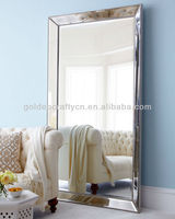 silver beaded frame floor standing mirror