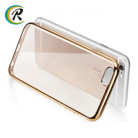 tpu cell phone accessoies case /shell/ housing for apple iPhone 7 free samples mobile phone accessories electroplated