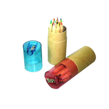 Mini Colored Pencil Tube Set Mini Colored Pencil Tube Set with Sharpener