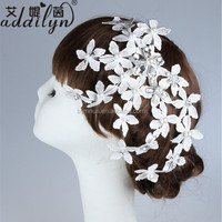 Korean fashion star flower rhinestone plain decorative hair accessories clips