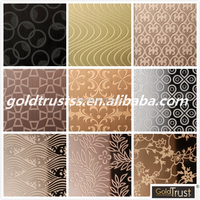 china suppler 304/316 art etching finish stainless steel sheet ,decorative wall panel