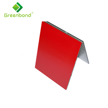 Greenbond standard size decoration aluminum composite panel with different color