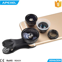 2017 phone accessories mobile lens custom camera cover HD 5 in1selfie lens kit