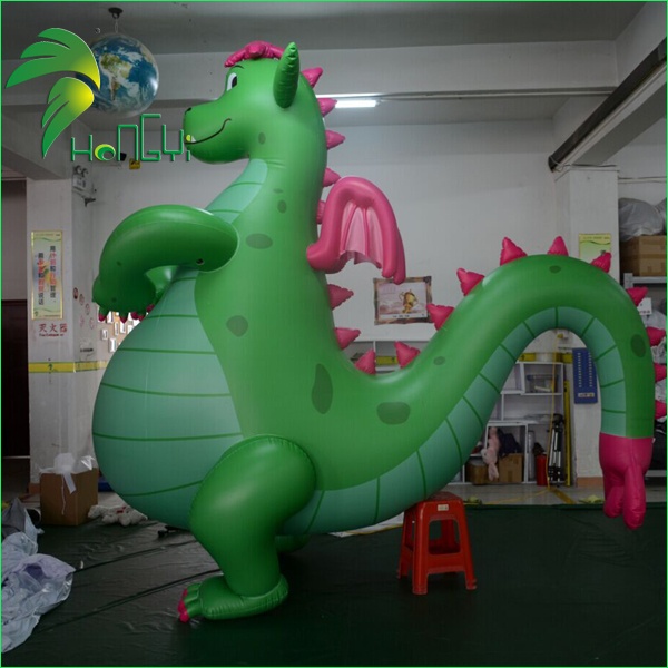 Custom Giant Inflatable Hongyi Inflatable Animal Models / Green Fat Sex Flying Dragon Toy