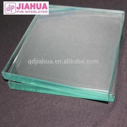 Soundproof wall glass with laminated float glass by clear PVB Interlayer film