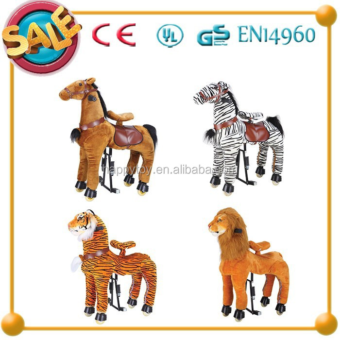 HI CE new design cowboy horse toy,mechanical toy horse