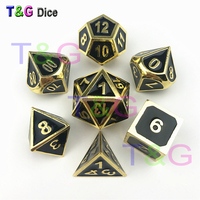 Dnd dice sets of metal polyhedral game dice