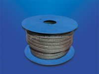 rock wool square rope with graphite coated with rubber packing
