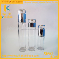 30ml 60ml 100ml 200ml High Quality Unique Design Round Clear Glass Cosmetic/Lotion Bottle UV Pump For Sale