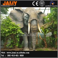 Outdoor Simulation Life Size Animal Mechanical Model of Elephant