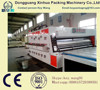 XH-O-Semi automatic flexo 2 colors printing slotting machine with die cutting