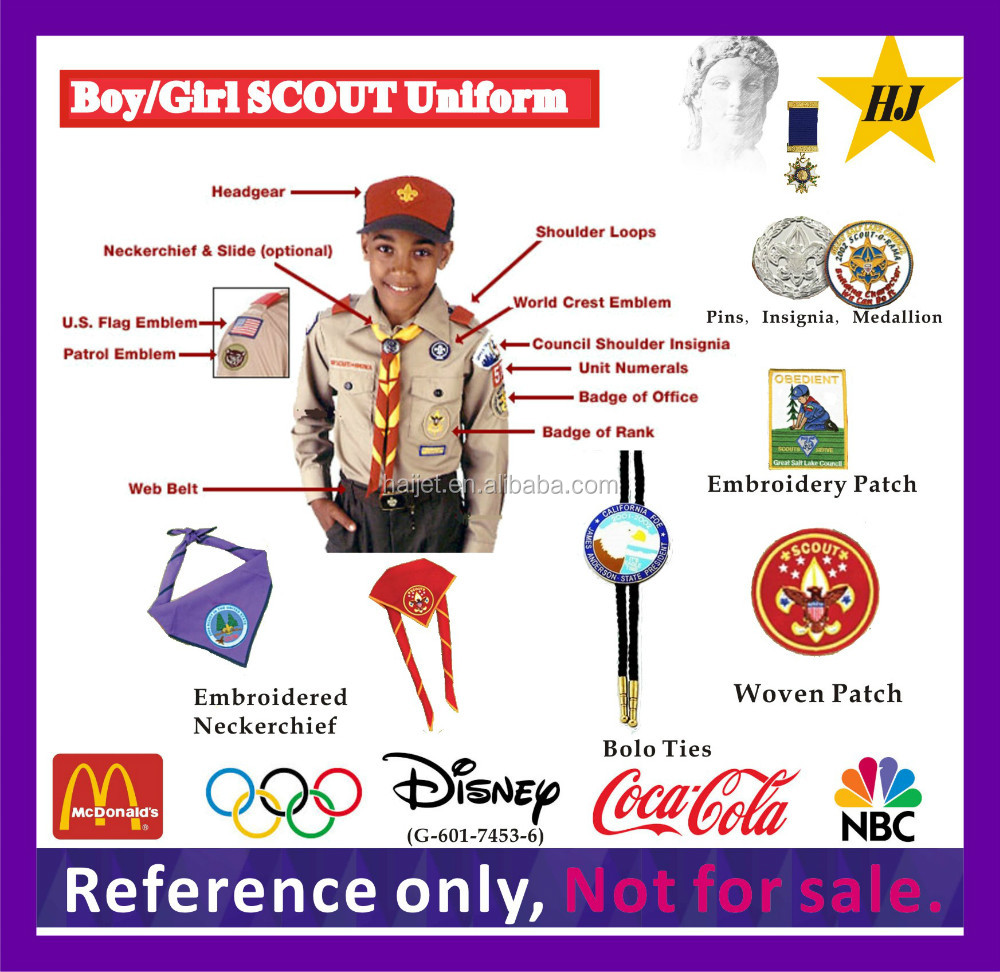 Boy/Girls Scout Uniform bolo ties