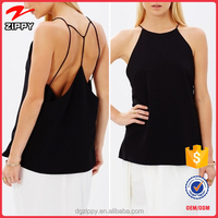 Sleeveless Womens Chiffon Tank Tops Sexy Backless Blouse Unique T-shirt Vest New