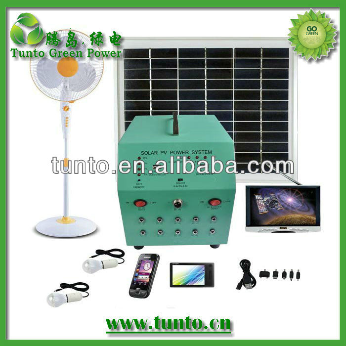 Promotion 70w portable solar system for home(panels+controller) to supply electric power for home use
