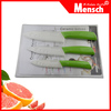 3pcs ceramic kitchen knife set for housewife