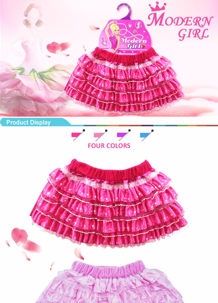 2016 Hot item kids fashion skirt for girls