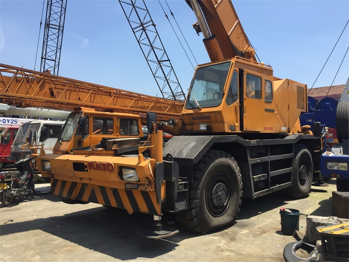 Powful Japanese Rough Terrain Crane Stable Working Ability 50 Ton Kato KR500 Used Off-road Crane for Sale