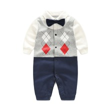PA029 Baby Boy's Faux-two Long Sleeve Jumpsuit comfortable rompers