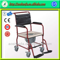 AS6921 Steel Wheelchair with toilet