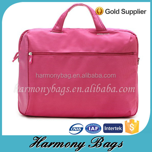 lady fancy pink 17.5 inch convenient feminine laptop briefcase