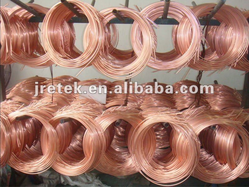 thickness 4.76mm copper coated bundy tube for condenser