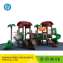 Hot sale outdoor funny kids plastic spiral slide playground equipment