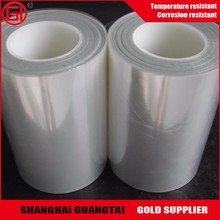 Recycled silicone coated transparent pet film roll