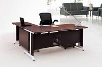 BUSH FURNITURE Achieve Collection L-shaped Computer Desk in Warm Oak Finish