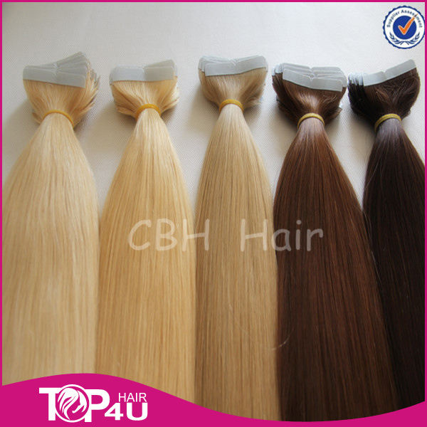 Best quality strong tape 100% virgin remy european tape extensions