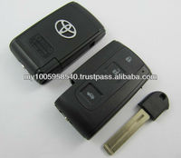 toyota crown smart card car remote key shell with blade 3 buttons key blanks custom
