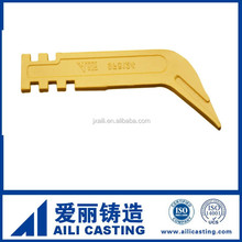 Precision casting excavator spare parts, ripper shank 9F5124,rock bucket point teeth