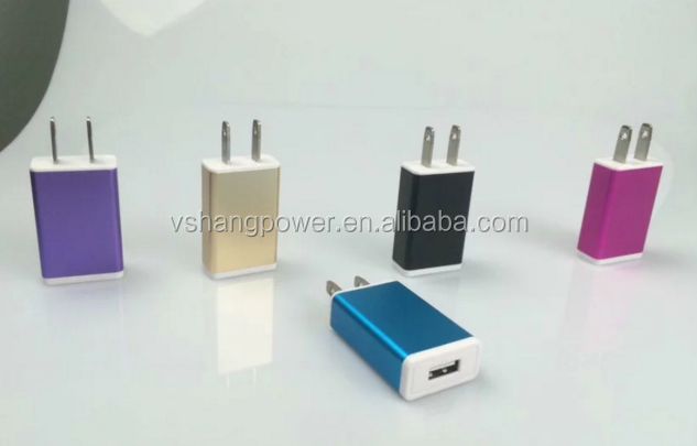 2016 Private Mode Wall Charger Colorful Cheaper Wall Charger multi-nation travel adapter with usb charger