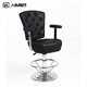 Cheap Poker Chairs With Chrome Base Footrest Armrest And Gas Lift Texture Leather Casino Bar Gaming Chairs