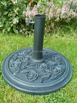 Round Polyresin Rose Umbrella Base
