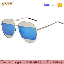 Hot sale double colors lens fashion sunglasses with UV400