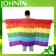 JOHNIN high quality fast production rainbow flags wholesale body flags