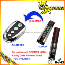 compatible with SOMMER 4020 rolling code remote control AG-002X