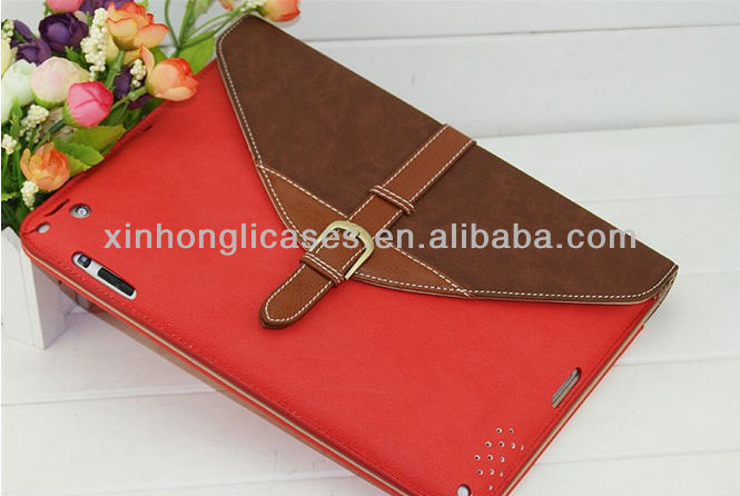 new arrival Top quality portfolio leather bag case for ipad 2/3