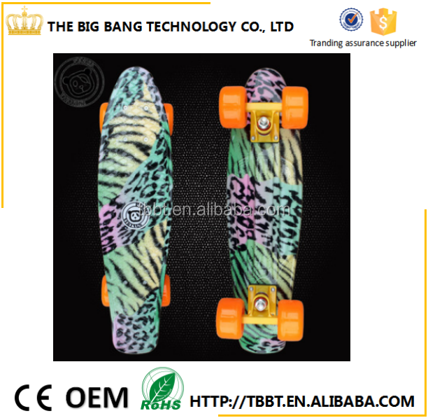 Pastel Color fish Style Skateboard 22Inch Complete skating mini longboard Gift Retro Cruiser fish long board skate